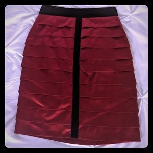 Dresses & Skirts - Burgundy tiered Robert Rodriquez pencil skirt